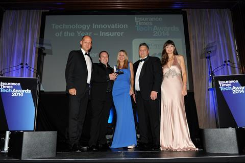 TechAwards 2014 Technology Innovation of the Year - Insurer: LV=